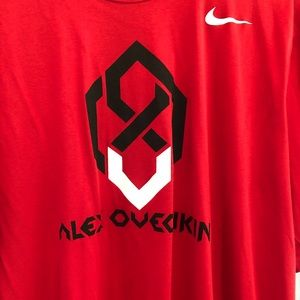 Extremely Rare Alex Ovechkin Nike dri fit shirt XL